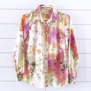 J.Crew Floral Print Button Down The Perfect Shirt
